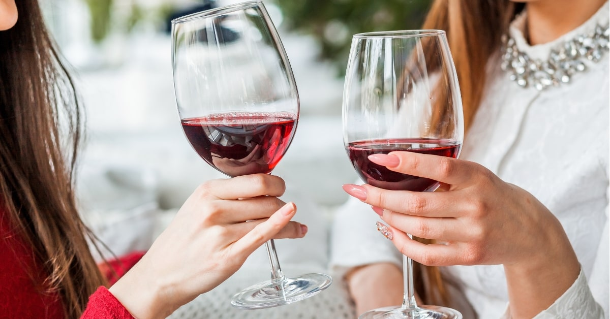 wine affects your skin