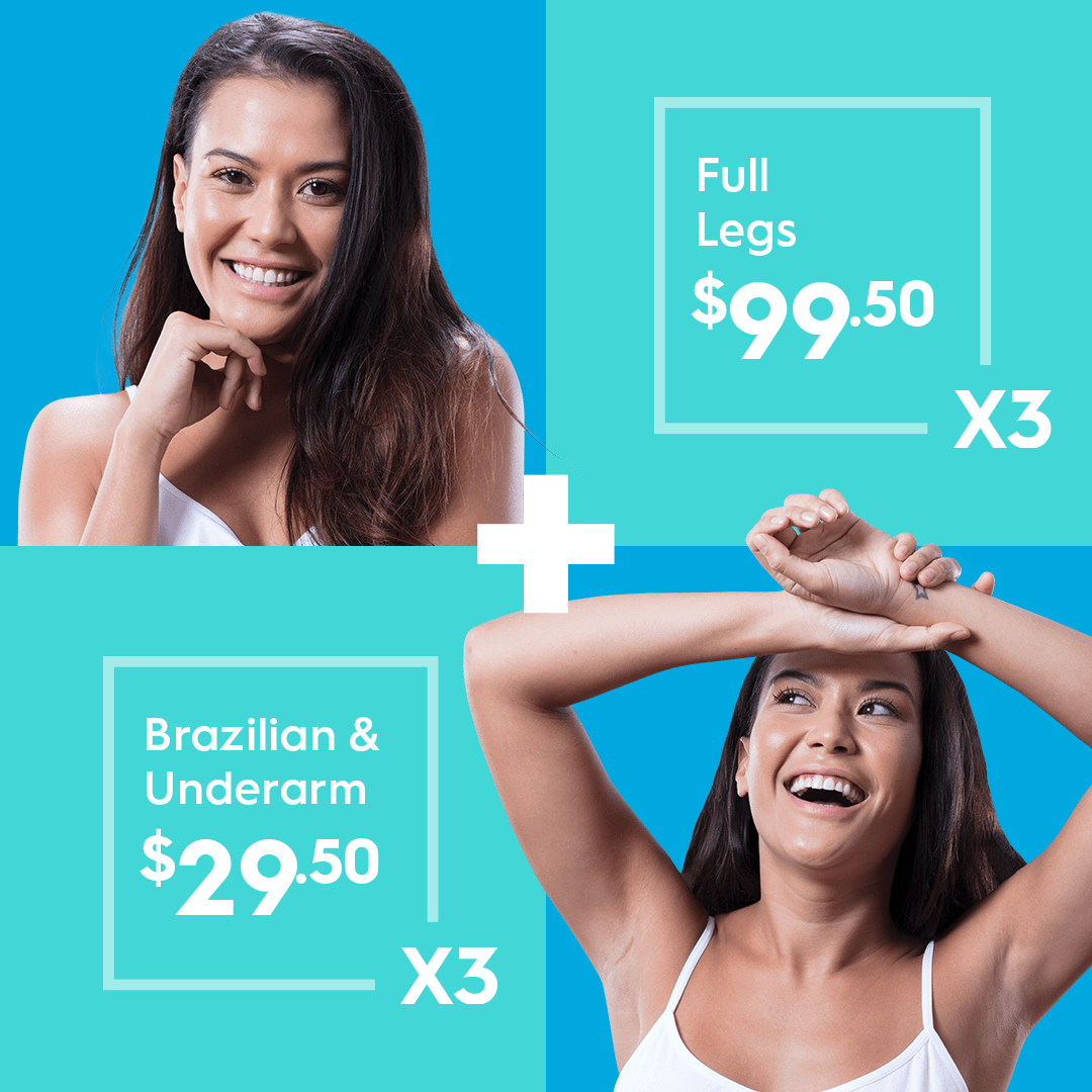 Haire removal full legs, Brazilian and underarms