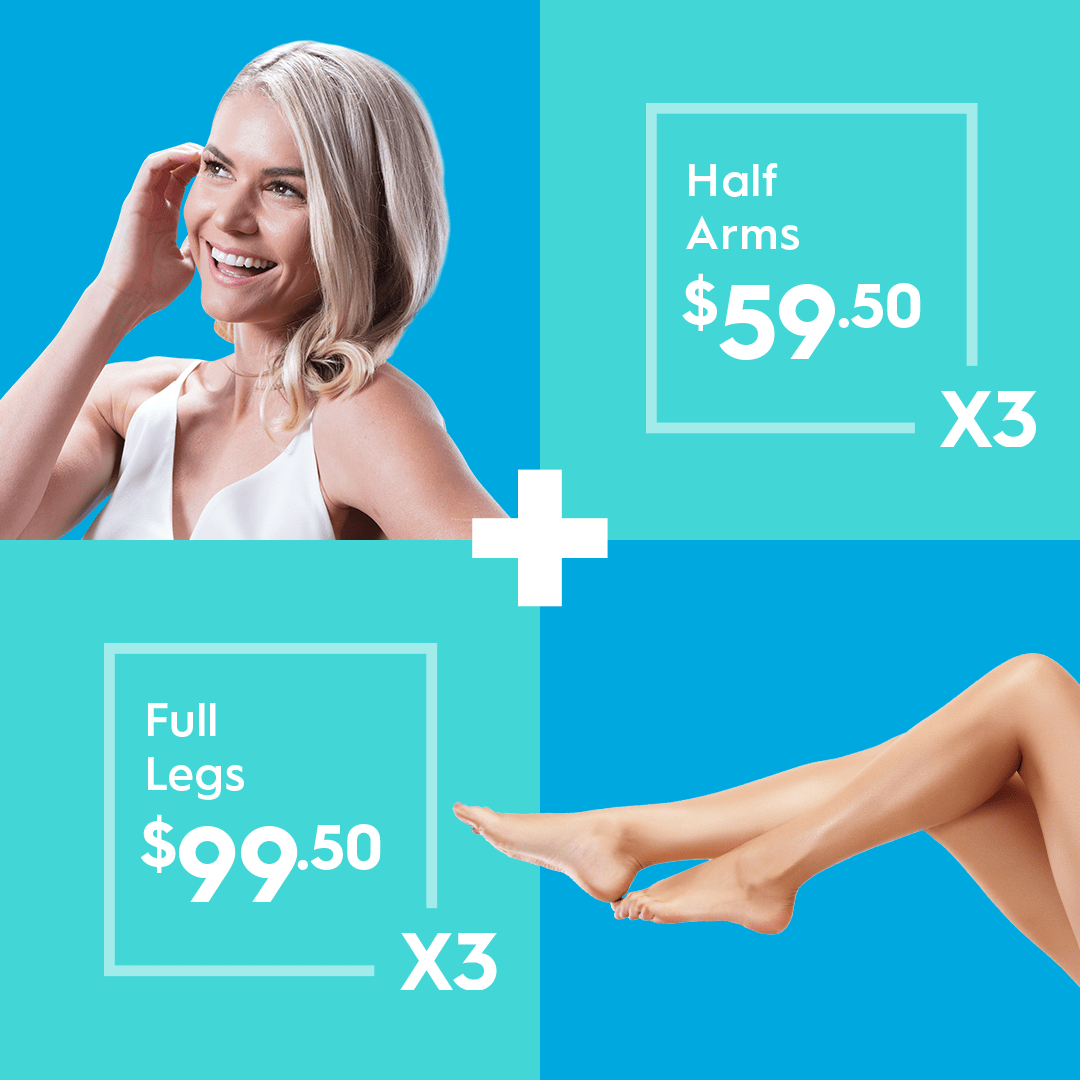 hair removal - half arms and full legs