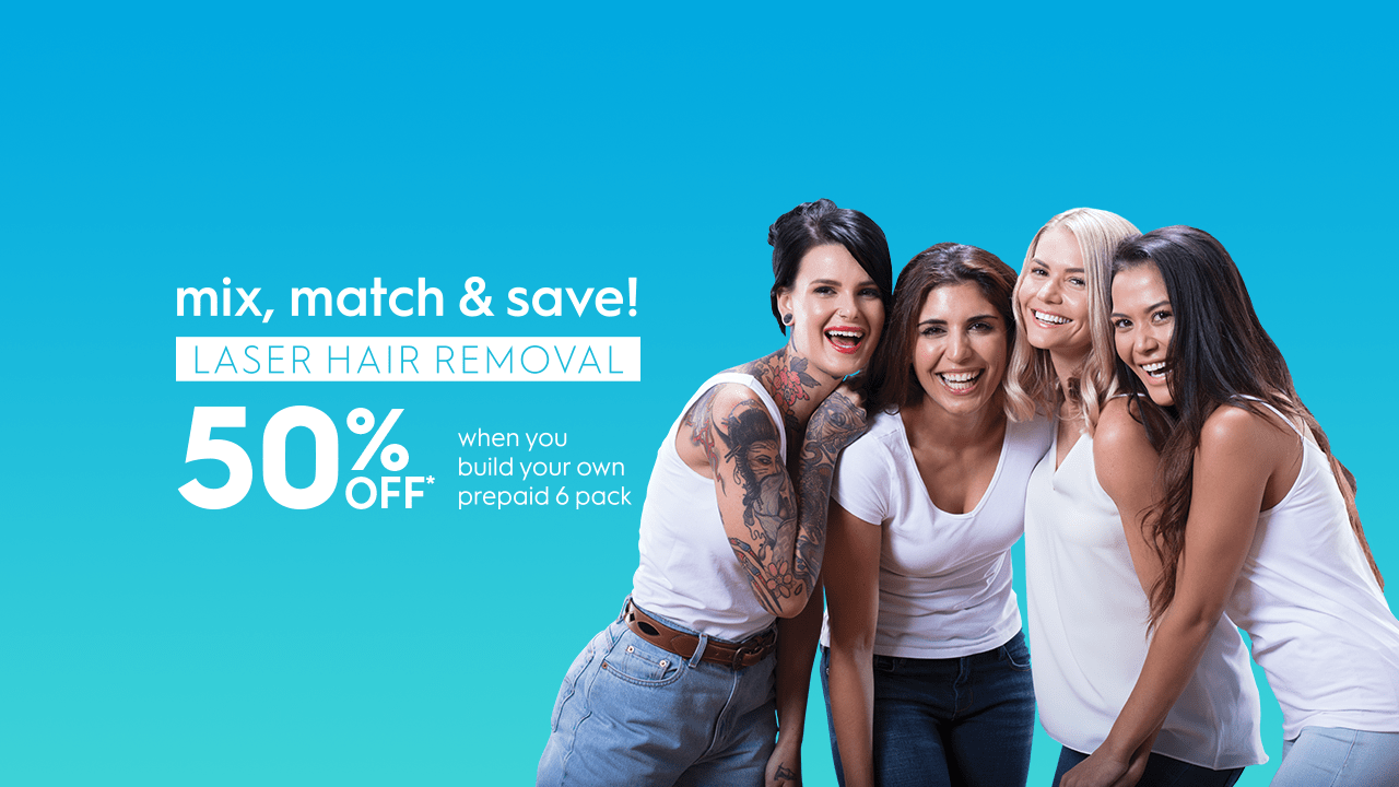 Mix and match July promotion on laser hair removal and skin treatments
