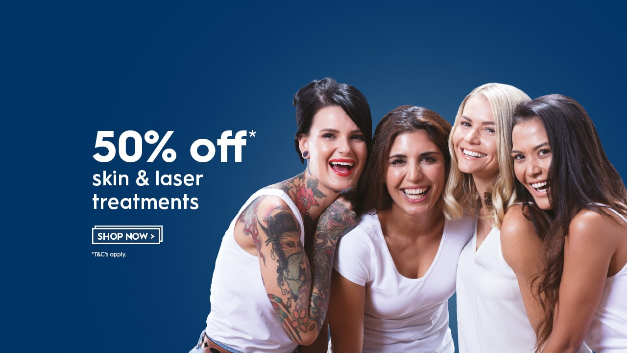 EOFY Flash sale 50% off laser and skin treatments