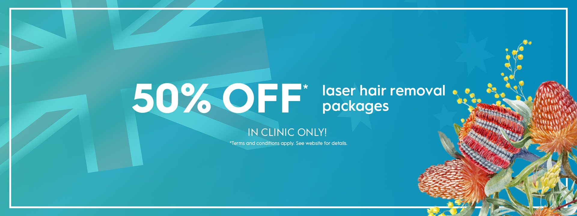 Laser Hair Removal 50% Off Sale