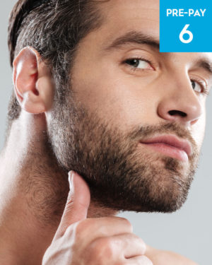 Laser hair removal beard sculpting 6 pack