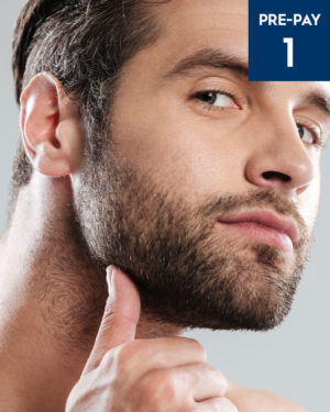 Laser hair removal beard sculpting