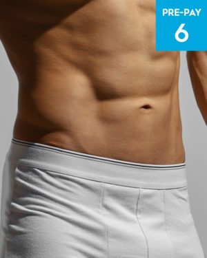 Laser hair removal brazilian male 6 pack