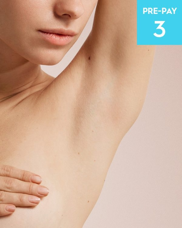 Laser hair removal brazilian & underarms 3 pack