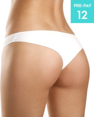 Laser hair removal buttocks 12 pack