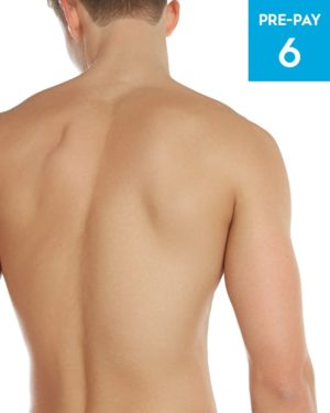 Laser hair removal chest & back 6 pack