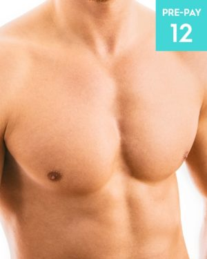 Laser hair removal chest 12 pack