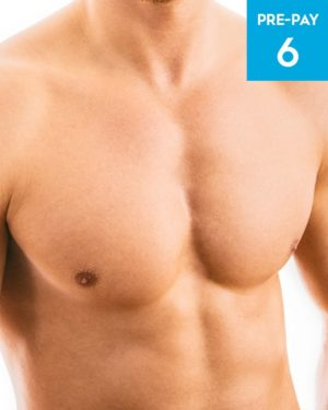 Laser hair removal chest 6 pack