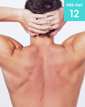 Laser hair removal chest & shoulders 12 pack