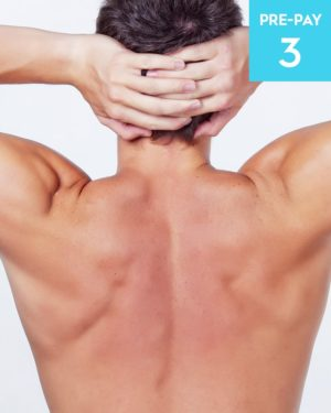 Laser hair removal chest & shoulders 3 pack