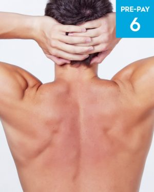 Laser hair removal chest & shoulders 6 pack