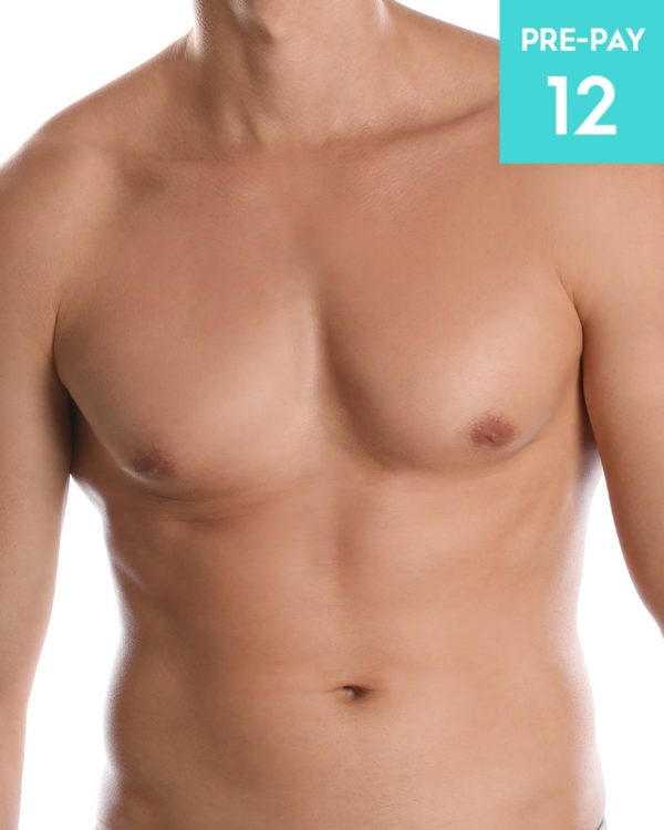 Laser hair removal chest & stomach 12 pack