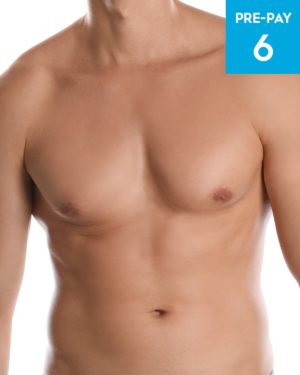 Laser hair removal chest & stomach 6 pack