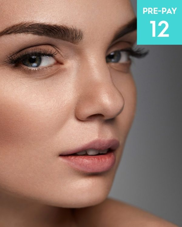 Laser hair removal Eyebrows 12 pack