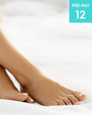 Laser hair removal feet & toes 12 pack