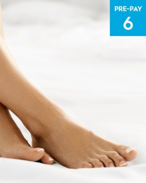Laser hair removal feet & toes 6 pack