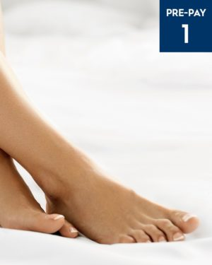 Laser hair removal feet & toes