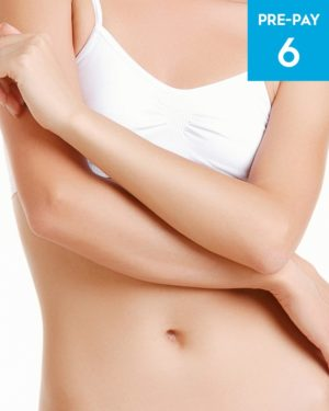 Laser hair removal full arms 6 pack