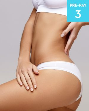 Laser hair removal full legs brazilian & underarms 3 pack