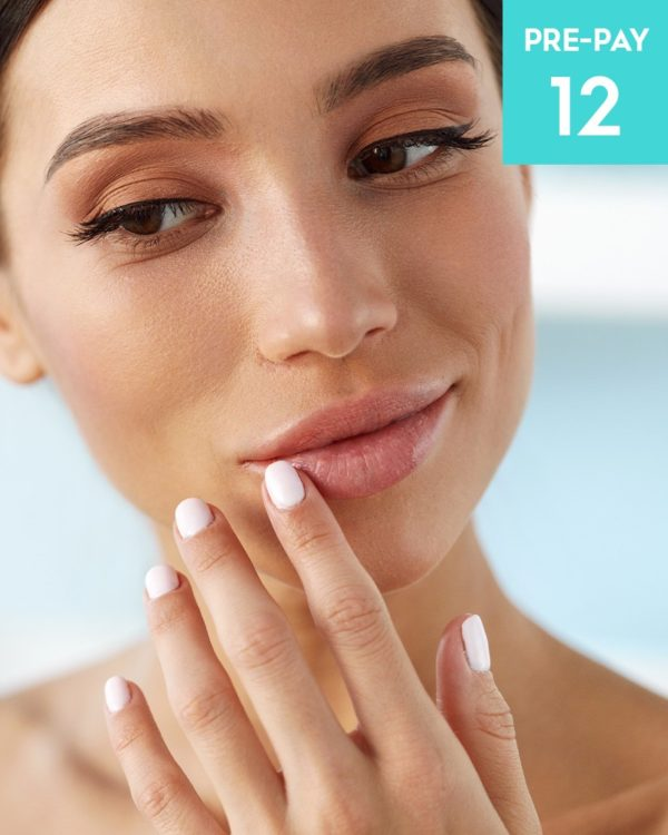 Laser hair removal 1/2 face 12 pack
