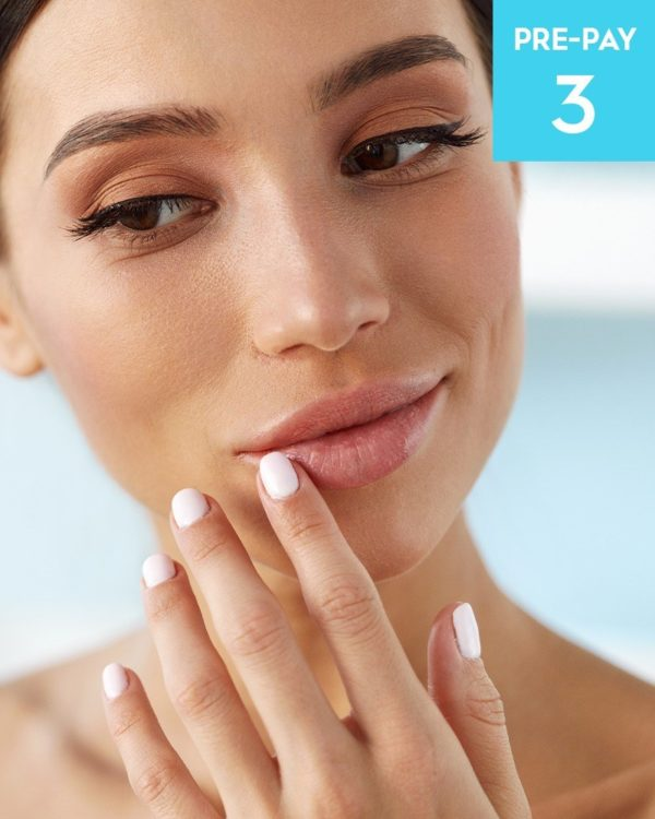 Laser hair removal 1/2 face 3 pack