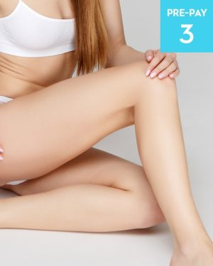 Laser hair removal 1/2 legs brazilian & underarms 3 pack