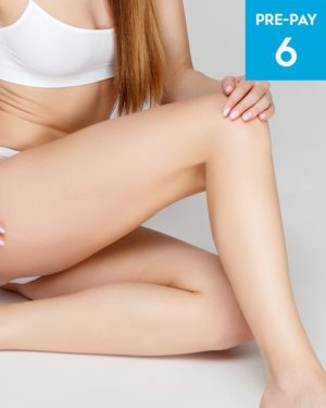 Laser hair removal 1/2 legs brazilian & underarms 6 pack