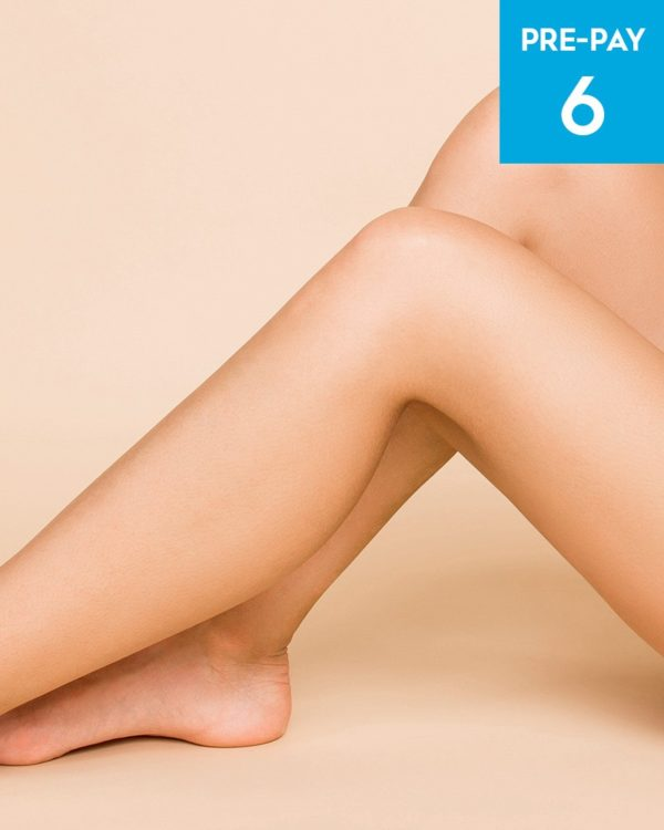 Laser hair removal 1/2 legs 6 pack