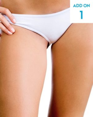 Laser hair removal inner thigh add-on