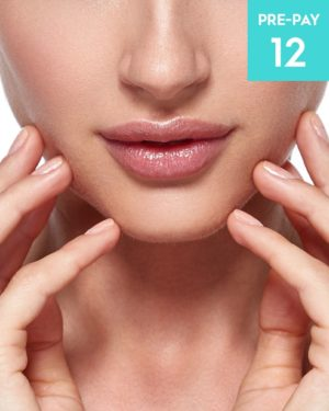 Laser hair removal lip & chin 12 pack