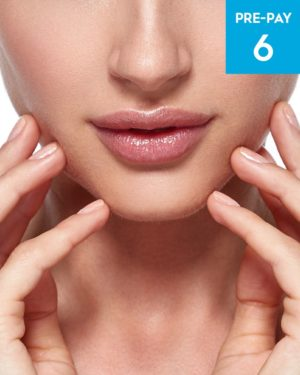 Laser hair removal lip & chin 6 pack