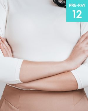 Laser hair removal 1/4 arms 12 pack