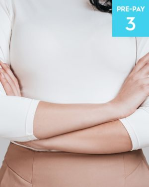 Laser hair removal 1/4 arms 3 pack