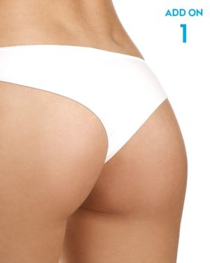 Laser hair removal 1/4 buttocks add-on