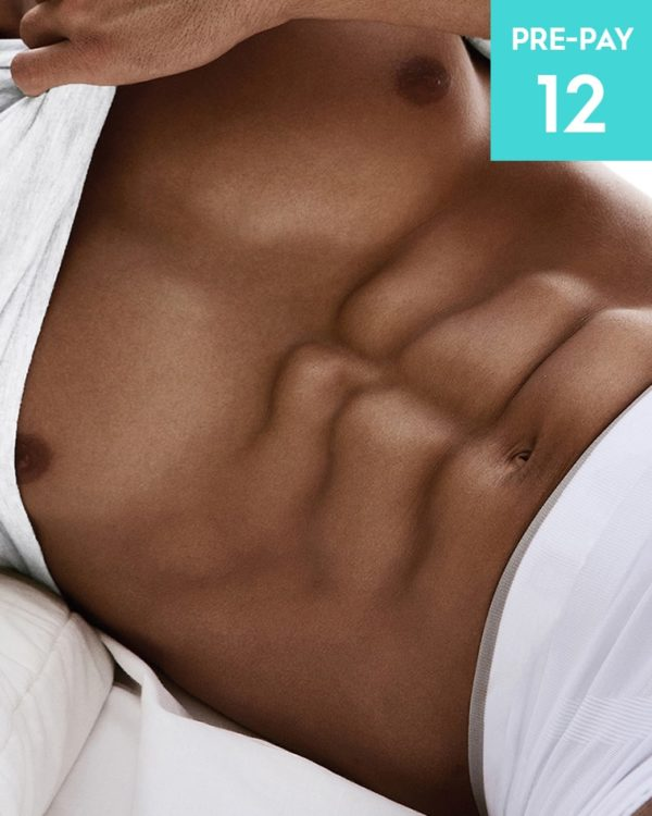 Laser hair removal stomach 12 pack