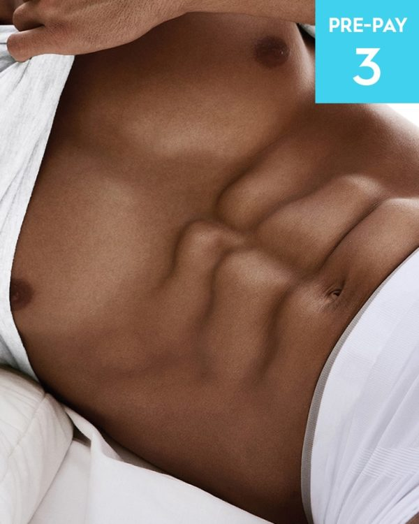 Laser hair removal stomach 3 pack