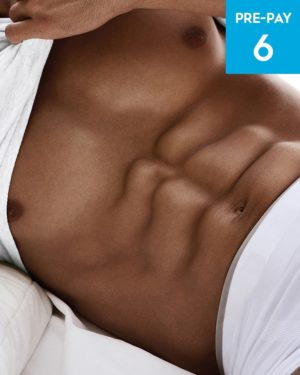 Laser hair removal stomach 6 pack