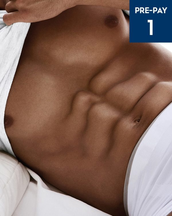 Laser hair removal stomach