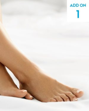 Laser hair removal toes add-on