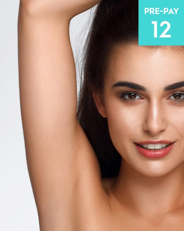 Laser hair removal underarms 12 pack