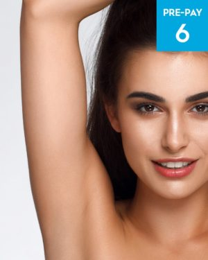 Laser hair removal underarms 6 pack