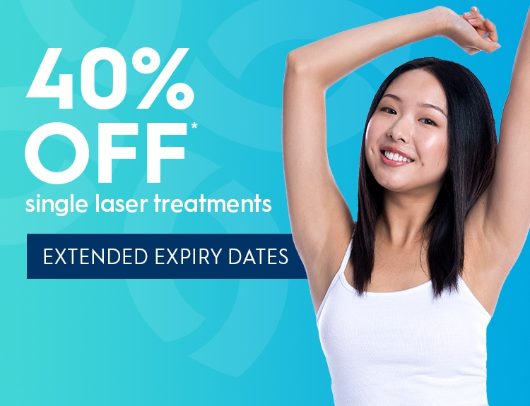 40% off Laser Hair Removal