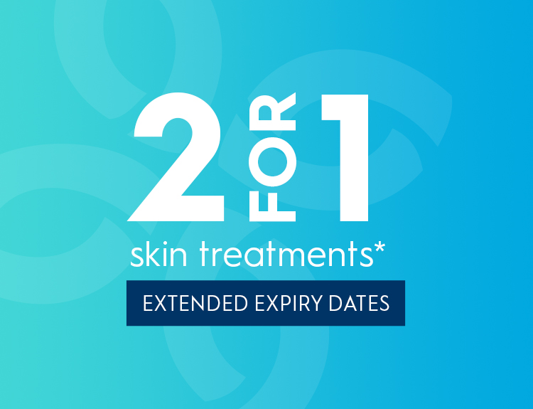 Buy 1 get 1 FREE on skin treatments