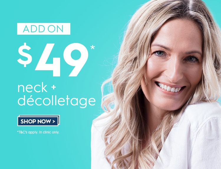 Addon discount price for skin treatments