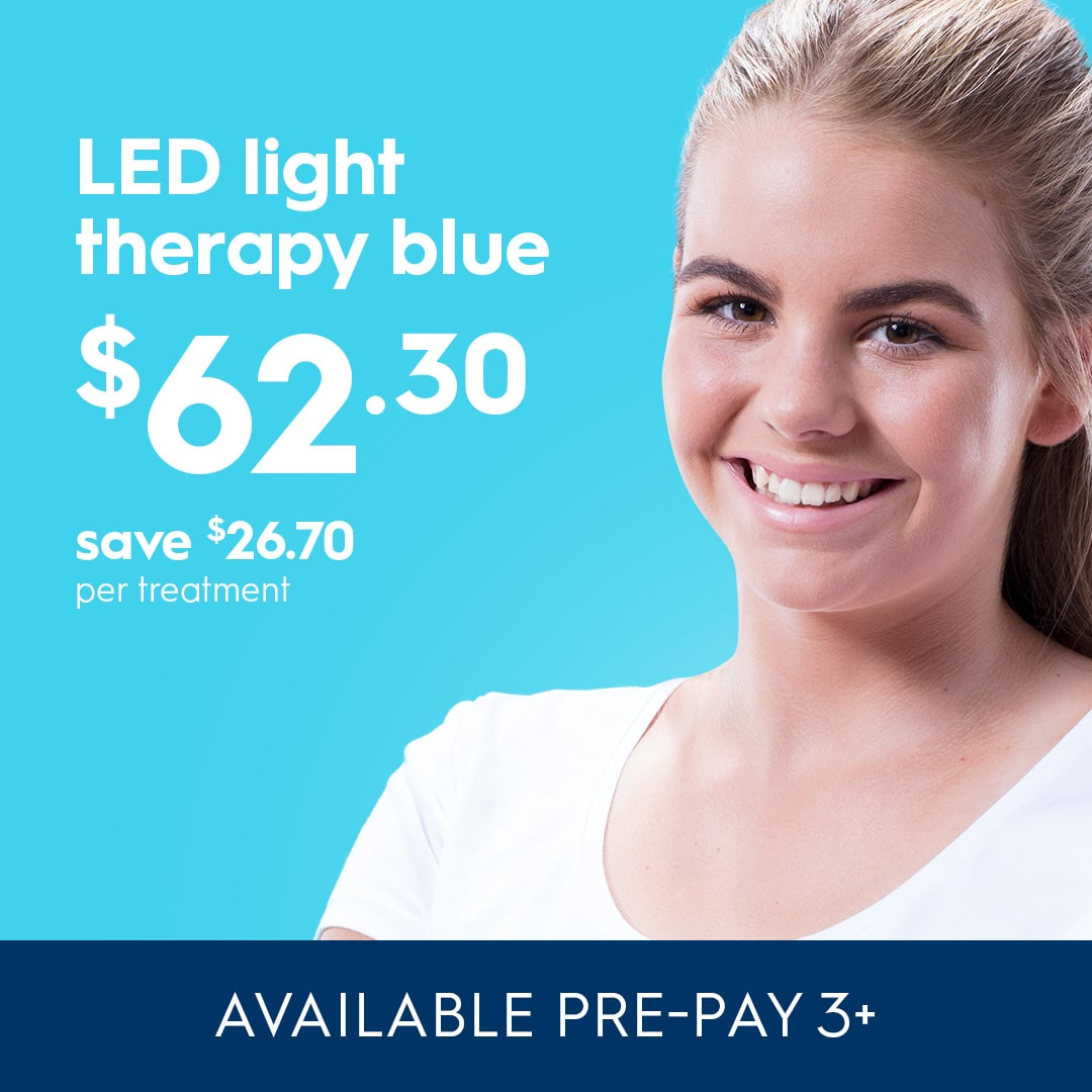 Acne blue LED light therapy