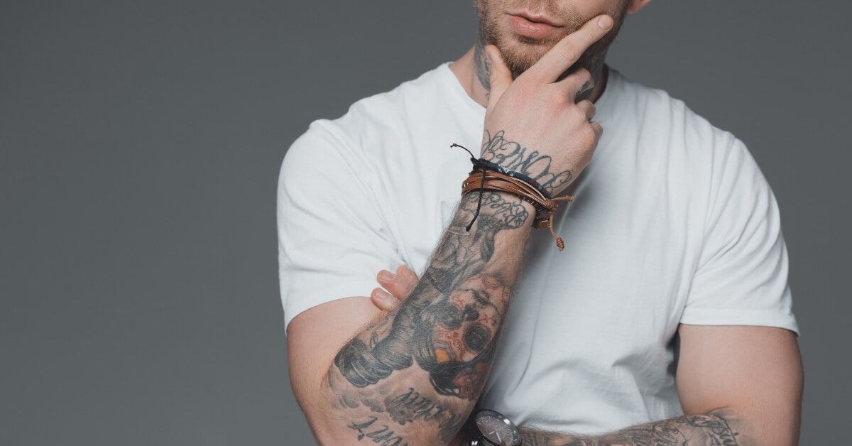 Laser hair removal tattoo arms